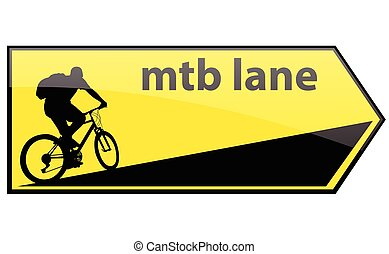 mtb cycle lane direction signboard - vector