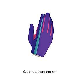 MTB gloves mockup - Sport gloves isolated on white...