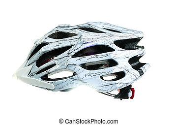mountain bike helmet, isolated on white background