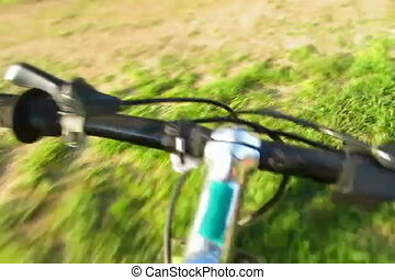 mtb timelapse - mtb bicycle timelapse tilt-shift footage