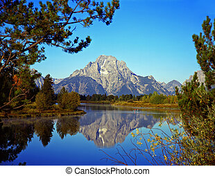 MtMoran&SnakeRiver#2 - The Oxbow Bend of the Snake River and...