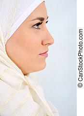muçulmano, árabe, mulher