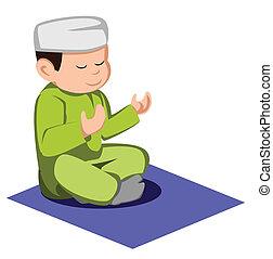 muçulmano, criança
