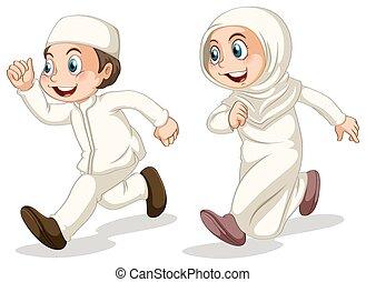 muçulmano, crianças