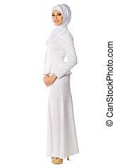 muçulmano, mulher jovem