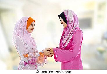 muçulmano, saudação