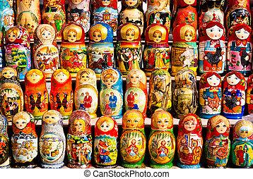 muñecas rusas, en la exhibición