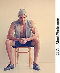 mužský, módní modelka