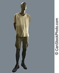 mužský, manekýnka, oblečený, do, náhodný clothes