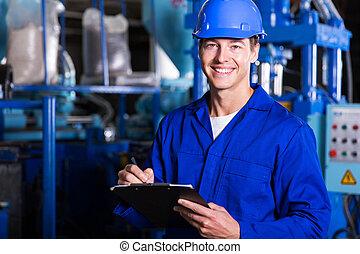 mužský, průmyslový, technik