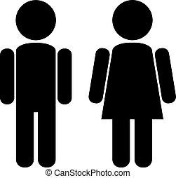 mužský, samičí