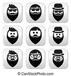 mu, barba, baffi, o, uomo