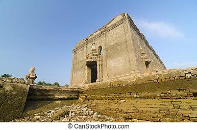 muang,  sangkhlaburi, resa, tempel, Forntida, lokalisering,  (underworld),  badan, bäst