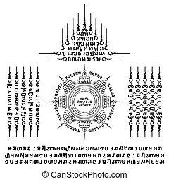 muay, symbole, tatouage, thaï, sacré
