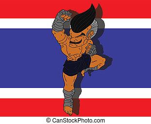Muay Thai BG 10 flag of Thailand
