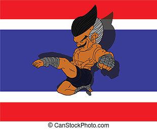 Muay Thai BG 11 flag of Thailand