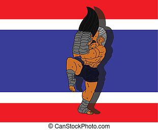 Muay Thai BG 12 flag of Thailand