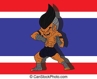 Muay Thai BG 2 flag of Thailand