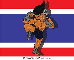 Muay Thai BG 7 flag of Thailand
