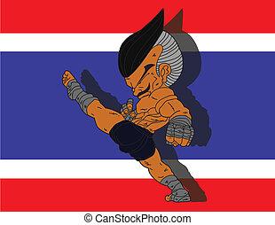 Muay Thai BG 8 flag of Thailand
