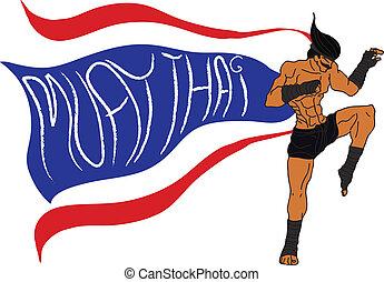 Muay Thai Boran : Flag of Thailand