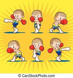 muaythai, ボクシング, 子供