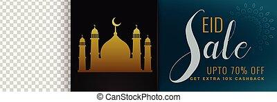 mubarak, スペース, イメージ, セール, イスラム教, eid, 旗