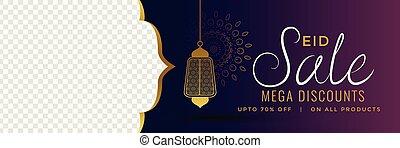mubarak, スペース, 紫色, イメージ, セール, eid, 旗