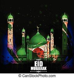 mubarak, eid, fondo