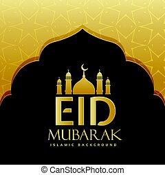 mubarak, fiesta, saludo, diseño, eid, plano de fondo