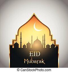 mubarak, fond, paysage, eid