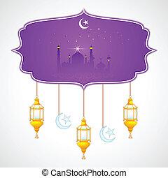mubarak, (happy, eid, plano de fondo, eid)