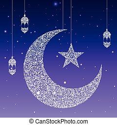 mubarak, (happy, eid, tarjeta, eid)
