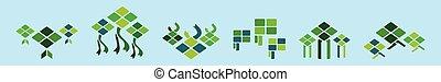 mubarak., icono, ilustración, plantilla, vector, eid, ramadan, verde, ketupat, aislado, vario, azul, modelos