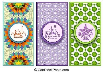 mubarak, meanig, ramadan, eid, plantilla, urdu, mensaje,...