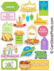 mubarak, oferta, venta, eid), (happy, eid, promoción, bandera