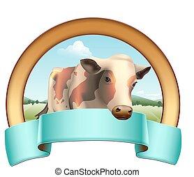 mucca, etichetta
