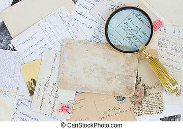 mucchio, vecchio, lettere