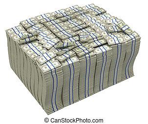 Much money. Huge pile of US dollars