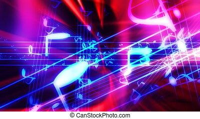 mucha, muzyka, abstrakcyjny, przez, pętla