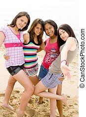 muchachas adolescentes, atractivo