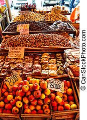 mucho, chile, fruits, local, valdivia, mercado, más