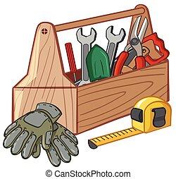 muchos, caja de herramientas, herramientas