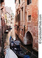 muchos, canales, uno, italia, venecia