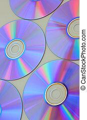 muchos, cd\'s, aislado