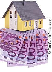 muchos, cuentas, euro, casa
