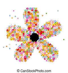 muchos, flores