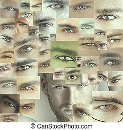 muchos, ojos