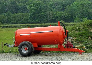 Muck and Slurry Tank - New metal orange muck and slurry...