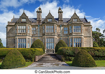 Muckross House is located between two of the lakes of Killarney in County Kerry, Ireland.